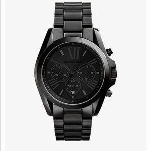 Men's NIB Michael Kors Bradshaw black-tone watch